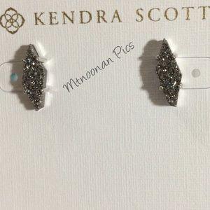 Kendra Scott Jewelry - Kendra Scott Brook Stud Earrings in Platinum Drusy