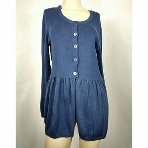 Daisy Fuentes Sweaters - DAISY FUENTES BLUE SWEATER, MEDIUM.