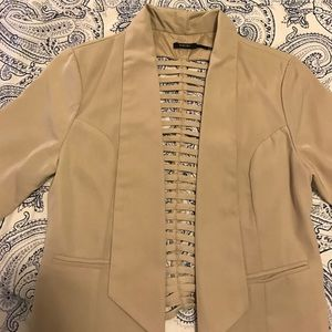 Poetry Jackets & Blazers - Poetry beige cut out blazer
