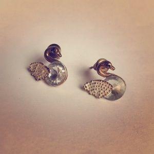 #A23 Vintage Swan Stud Earrings