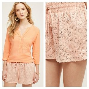 Anthropologie Pants - Anthro Vegan Leather Eyelet Shorts
