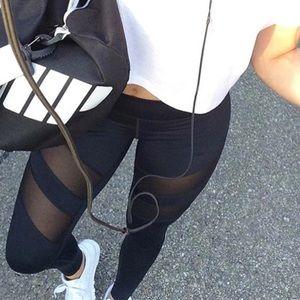Pants - JUST ARRIVED black mesh fitness workout leggings