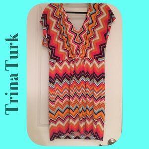 Trina Turk Dresses & Skirts - TRINA TURK Retro Chevron Dress. Very Slimming 😉