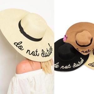 """Assorted """"Do Not Disturb"""" Floppy Wide Brim Hats"""