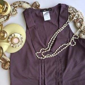 Love Squared Tops - Cute Pastel Purple Blouse