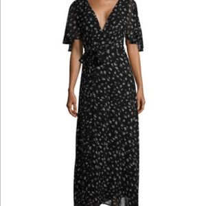 WILDFOX WILD FOX Flutter Sleeve Wrap Dress