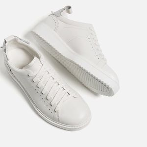 Zara leather detail sneakers