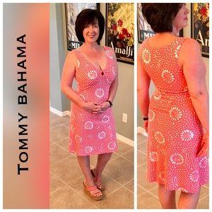Tommy Bahama Dresses & Skirts - RESORT- LNWOT coral pink keyhole v neck dress