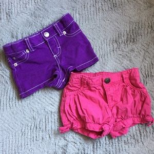 Amy Coe Other - 2 Pair Pink & Purple Shorts