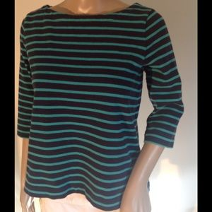 LOFT Tops - Green and black sweater by Loft