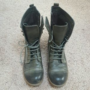 Kensie Girl Shoes - Military inspired combat boot