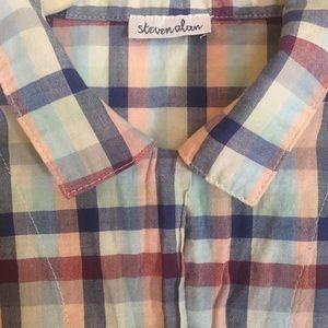 Steven Alan Dresses & Skirts - Steven Alan Plaid Drawstring Dress