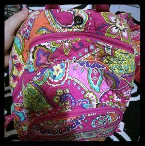 Pink Swirl Vera Bradley Bookbag