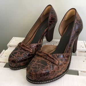 Anthropologie Shoes - Schuler & Sons Brown Leather Heels