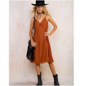 Somedays Lovin Dresses & Skirts - 🎉HP Somedays lovin Midi wrap slip boho dress M