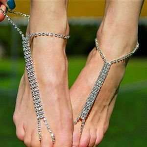 Shoes - Crystal Barefoot Sandals Gold