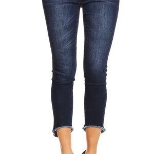 enjean Denim - Fringed bottom denim jeans