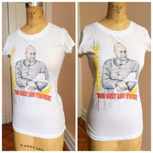 """Mighty Fine Tops - NWT """"you only live twice"""" graphic tee"""