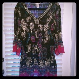 Catherines Tops - Catherine's patterned tunic shirts