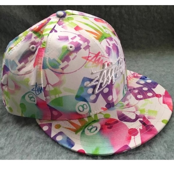 7f67eb131ae Stussy 59 new era 8 ball crown skull hat 7.5 hat. M 58c410287fab3a3639004174