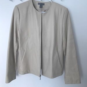 Kate Hill Jackets & Blazers - ⭐️ $30 SALE!! ⭐️ KATE HILL: cream leather jacket