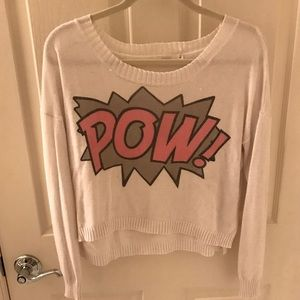 LF Sweaters - 'POW' thin white sweater! 💥