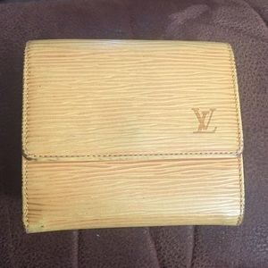 Handbags - Authentic Louis Vuitton yellow epi leather wallet