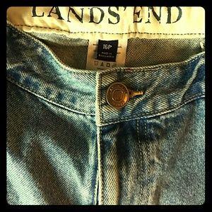 Lands' End Denim - Vintage Lands End 16 p straight leg mid rise jeans