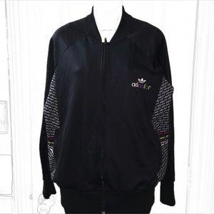 Adidas Vintage Adicolor black track jacket sz XL
