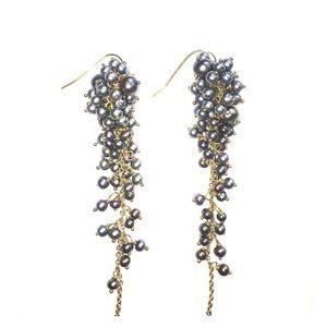 Jewelry - Freshwater pearl cluster-drop earrings