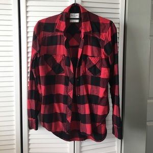 Red and Black Abercrombie Flannel