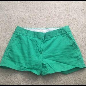J.Crew Factory Pants - J.crew factory green chino shorts