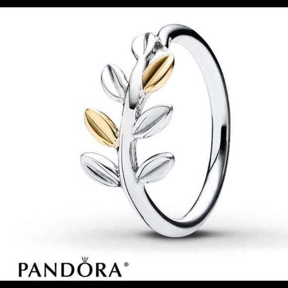 1e845c4181742 Pandora Laurel Leaves ring