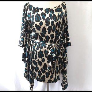 Leopard Print Kimono Top