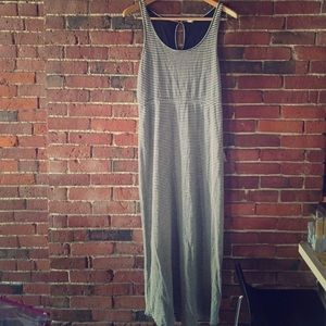 J.Crew Grey and Black Stripe Maxi Dress. Size L