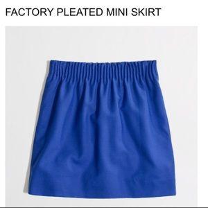 NWT J.Crew pleated mini skirt