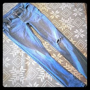 Old Navy Denim - Old navy Curvy Mid Rise distressed jeans 2 petite