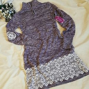 Soybu Dresses & Skirts - Soybu faire isle sweater dress