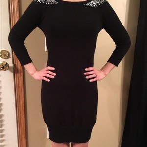 a. Byer Dresses & Skirts - Long sleeve black dress with silver sequins