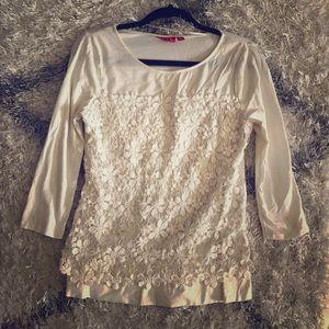 Elle Tops - Elle Crochet Shirt M