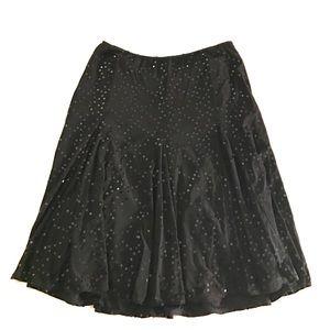 Vintage Betsey Johnson Black Sequined Flare skirt