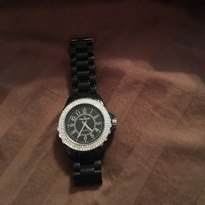 Peugeot Other - Black watch with fake diamonds