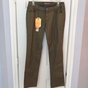 Highway Jeans Denim - Highway metallic gold skinny jeans