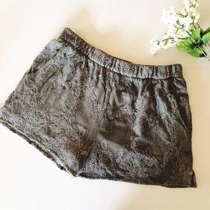 Zara lace overlay shorts
