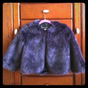 Fabulous Furs Jackets & Blazers - Fabulous Fur Purple Cropped Jacket
