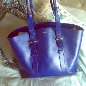 Alexander McQueen Shopper  ultramarine leather