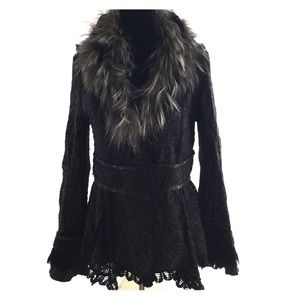 Dolce Cabo  Jackets & Blazers - Vintage Dolce Cabo Lined Jacket w Fur Collar