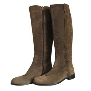 Tory Burch Shoes - Sesto Meucci Suede Knee Riding Boots Taupe Brown !