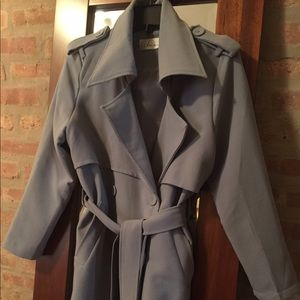 chicwish Jackets & Blazers - Spring trench coat blue/grey