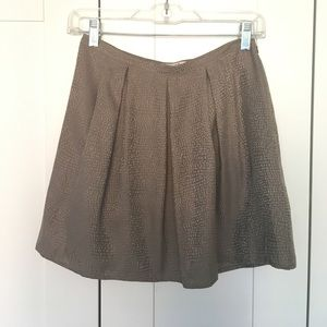 Gray Silk Skirt